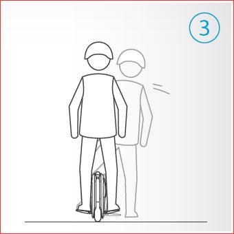 Con un pie en el pedal, deslizarse con el otro pie levantandose durante 1-2 segundos